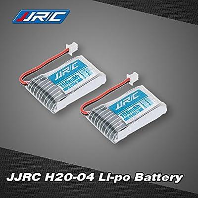 2pcs Ursprüngliche JJRC H20 RC Hexacopter Quadrocopter Drohne Teil H20-04 3,7V 150mAh 30C Lipo Akku Batterie