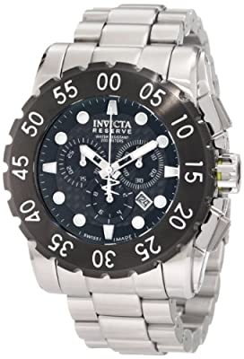 Invicta Men's 1957 Reserve Chronograph Black Dial Stainless Steel Watch from Invicta
