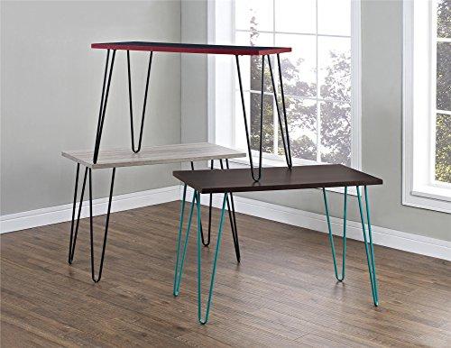 Ameriwood Home Owen Retro Desk with Metal Legs (GrayOak ...