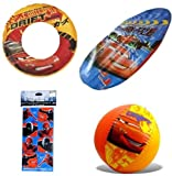 Pixar Cars Pool Toys for Kids (4 pieces) - Disney Pixar Swim Ring (20
