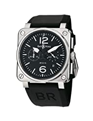 Bell & Ross Men's BR03-94STEEL Aviation Black Rubber Strap Watch