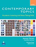 img - for Contemporary Topics Introductory: Academic Listening and Note-Taking Skills (Student Book and Classroom Audio CD) book / textbook / text book