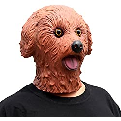 CreepyParty Deluxe Novelty Halloween Costume Party Latex Head Mask Teddy (Brown)