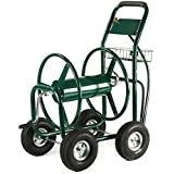 XtremepowerUS Garden Water Hose Reel Cart 300 FT Outdoor Heavy Duty Yard Water Planting