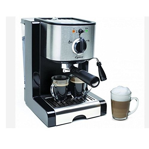 Cappuccino Machine,Coffee Espresso Makers,Stainless Steel,Removable Heavy Duty Stainless Steel Cup Warming Platform