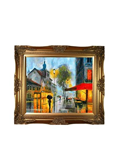 Celito Medeiros Afternoon Stroll Framed Canvas Print, Multi, 28″ x 32″