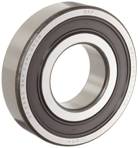 Skf 6304 2Rsjem Medium Series Deep Groove Ball Bearing, Deep Groove Design, Abec 1 Precision, Double Sealed, Contact, Steel Cage, C3 Clearance, 20Mm Bore, 52Mm Od, 15Mm Width, 1750Lbf Static Load Capacity, 3570Lbf Dynamic Load Capacity