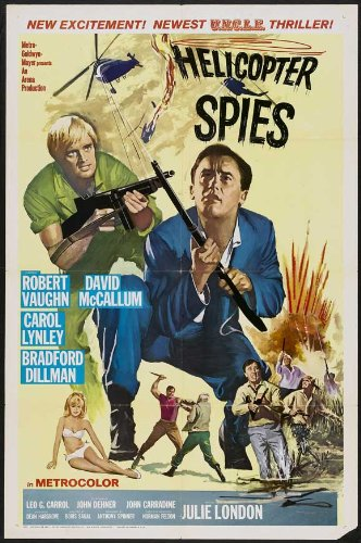 1968 Helicopter Spies x MOVIE POSTER