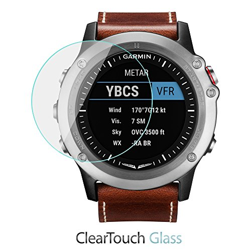 Garmin D2 Bravo Screen Protector, BoxWave® [ClearTouch Glass] 9H Tempered Glass Screen Protection for Garmin D2 Bravo
