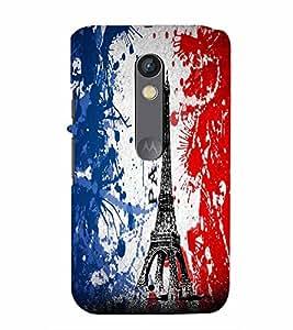 PrintVisa Travel Paris Eifel 3D Hard Polycarbonate Designer Back Case Cover for Motorola Moto X Play
