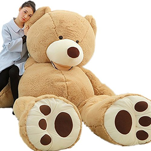 "78""GIANT HUGE BIG NO FILLER ANIMAL BROWN TEDDY BEAR PLUSH SOFT TOY 200CM"