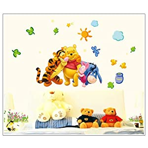 Gadfly- The Honey Pot Sun Winnie the Pooh and Winnie the Pooh Peel & Stick Nursery/baby Wall Sticker Decal