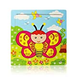 Atdoshop Butterfly Puzzle Educational Developmental Children Baby Wooden Toy Gift (Butterfly)