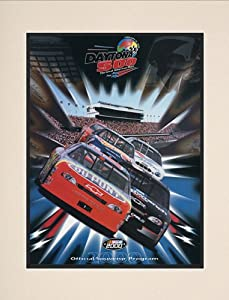 NASCAR Matted 10.5 x 14 Daytona 500 Program Print Race Year: 42nd Annual - 2000 by Mounted Memories