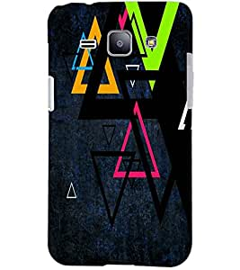 PrintDhaba TRIANGLE PATTERN D-6431 Back Case Cover for SAMSUNG GALAXY J1 (Multi-Coloured)