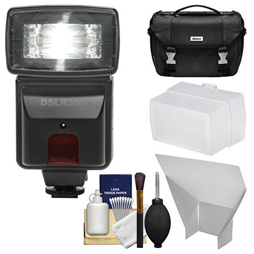 precision design dslr300 high power auto flash with case. Black Bedroom Furniture Sets. Home Design Ideas
