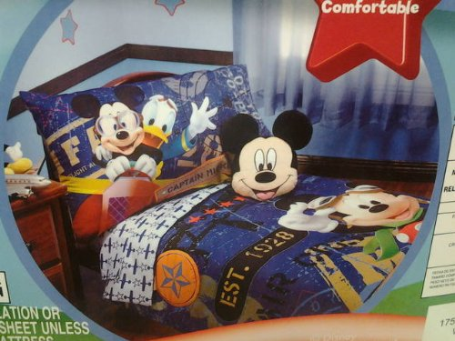 Disney mickey mouse 4pc toddler bedding set genuine licensed mickey as