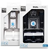 Pack 2 batteries 700 mAh + 2 capots et un double socle de charge + 1 cable USB pour Wii Remote - Assortiment (Pack noir ou Pack blanc)