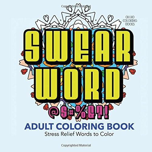 Adult Coloring Book Naughty Prank Swear Word Stress Funny