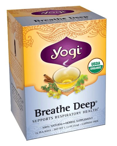 Yogi Breathe Deep Tea, 16 Tea Bags (Pack Of 6)