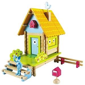House of Toys - 420752 - Jouet en Bois - Jeu de Construction - Maison Jolieville - 100 Pièces