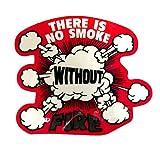 コトワザステッカー《火のない所には煙は立たぬ/THERE IS NO SMOKE WITHOUT FIRE》防水加工