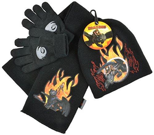 dreamworks-set-de-bufanda-gorro-y-guantes-para-nino-negro