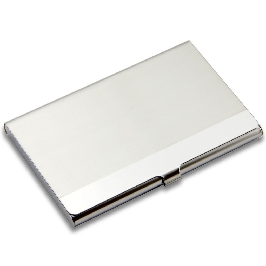 SanHoo Business Card Holder - Professional Stainless Steel Card Holder Keep Business Cards in Immaculate Condition