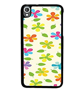 iFasho Animated Pattern flower with leaves Back Case Cover for HTC Desire 820