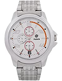 Rabela Analog White Dial Steeliness Steel Strap Watch RAB-714