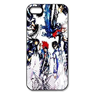 Anime Series DIY-4 D.Gray-man Print Black Case With Hard Shell Cover for Apple iPhone 5