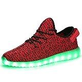SITAILE Herren Damen Leuchten LED-Schuhe USB-Lade 7 Farben blinkende Leucht...