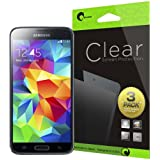 i-Blason Samsung Galaxy S5 Screen Protector - 3 Pack Premium HD Clear Version (AT&T, Verizon, Sprint, T-mobile, All Carriers)