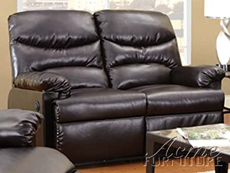 ACME 50929 Arcadia Motion Loveseat, Brown Bonded Leather