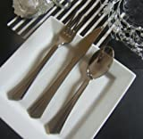 Disposable / Re-Usable Silver Metallic Finish Cutlery Set - Would You Believe It's PLASTIC !! (210 PIECES)
