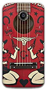 The Racoon Grip Western Guitar hard plastic printed back case / cover for Moto X 2nd Gen