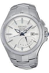 Seiko SRN063 Men's Coutura Silver Bracelet Band White Dial Watch