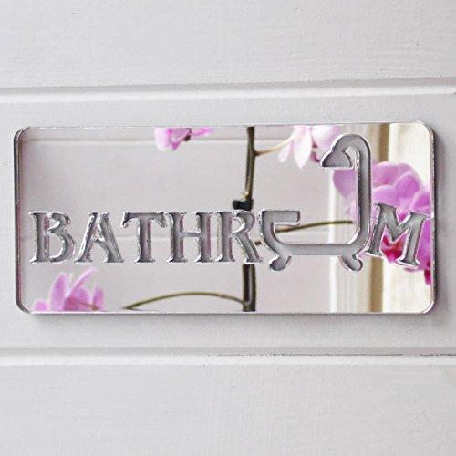 bathroom-shower-acrylic-mirrored-door-sign