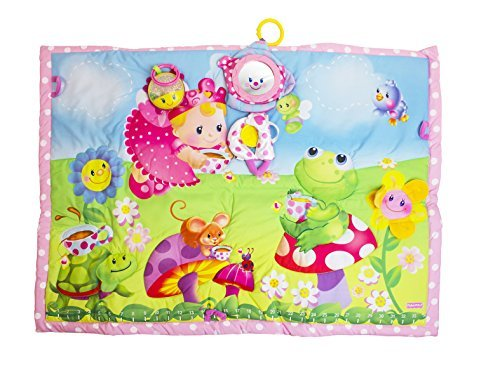 Fisher-Price Tummy Time Tea Party Quilt - 1
