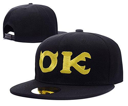 [ZZZB Monsters University Oozma Kappa Logo Adjustable Snapback Embroidery Hats Caps] (Monsters University Hat)