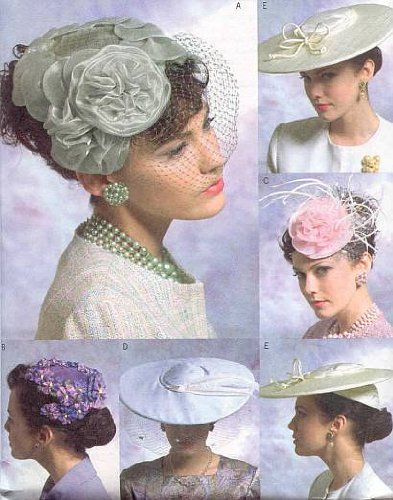 Vogue Patterns V8052 Misses' Vintage Hats, One Size