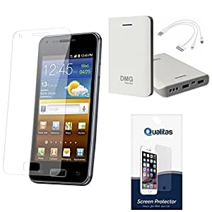 Qualitas Pack of 12 Matte Screen Protector for Motorola Google Nexus 6 + 7800 mAh Power Bank