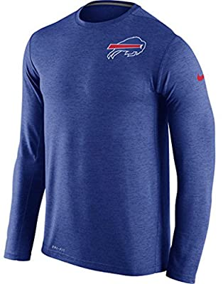 Buffalo Bills Nike Dri-FIT Touch Long Sleeve Performance T-Shirt - Royal