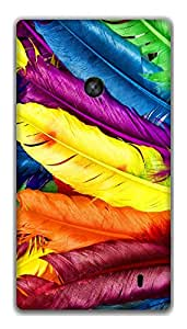 The Racoon Lean Feathery Delight hard plastic printed back case / cover for Nokia Lumia 520