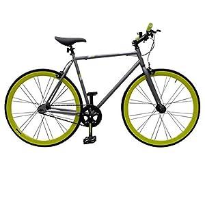 Muddyfox Unisex Fixie Bike Steel Track Bike Frame Rigid Front Forks