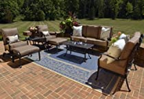 Hot Sale The Herve Collection 8-Piece All Welded Cast Aluminum Patio Furniture Deep Seating Set