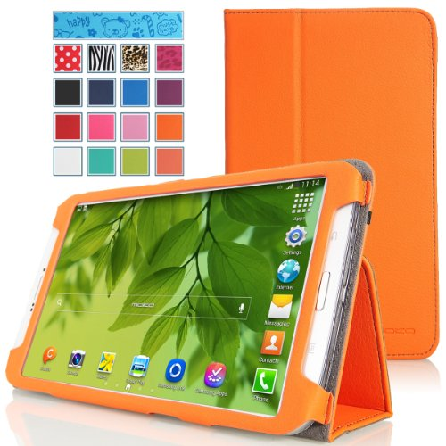 MoKo Samsung Galaxy Tab 3 8.0 Case - Slim Folding Cover Case for Samsung Galaxy Tab 3 8.0 Inch SM-T3100 / SM-T3110 Android Tablet, ORANGE (with Smart Auto Wake / Sleep Feature. WILL NOT Fit Samsung Galaxy Tab 4 8.0)