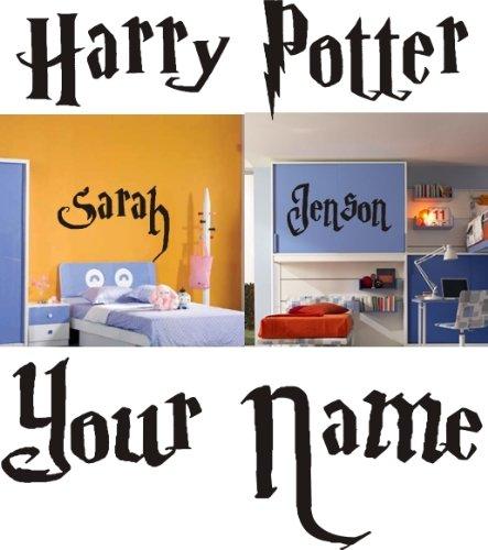 Adesivo a muro, personalizzabile, motivo: Harry Potter, 100 x 40 cm