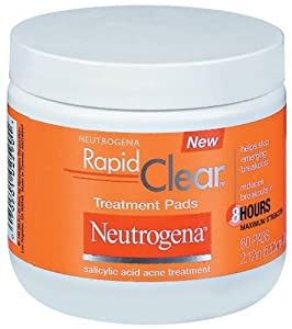 Neutrogena Rapid Clear Treatment Pads, 60 Count(Pack of 3)