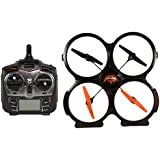 Udirc 2.4GHz 4 CH 6 Axis Gyro RC Quadcopter with Camera (Black)